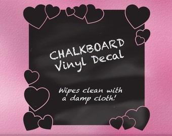 Hearts Room Decor Chalkboard Decal | Hearts Decor | Kitchen Decor | Bedroom Decor | Kids Playroom Decor | Valentines Day Chalk board