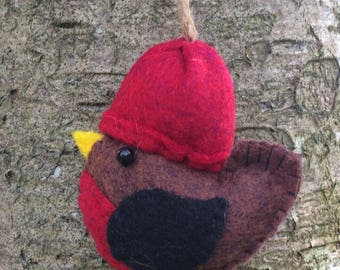 Felt Robin, Robin decorations, christmas robin