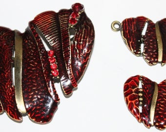 Heart ornament: pendant and earrings
