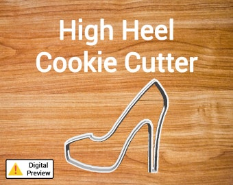 "4"" High Heel Cookie Cutter (Object Set)"