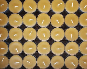 150 Beeswax Tea Lights -  ; ) NON-Parrifin Dipped & NON-metal cored Wicks