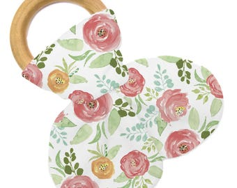 Non Personalized Teether - Floral Field