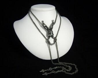 Large Jackalope Necklace