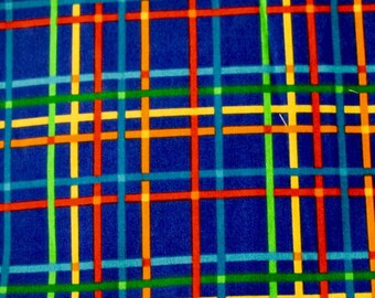 "18""x22"", Fat Quarter, Bright Blue Fabric, Multi Colored Fabric, VIP Print Cranston Print Works, Quilting Fabric, Fabric"