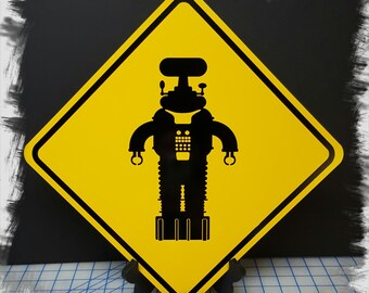 Robot B-9 - Lost in Space Aluminum Sign