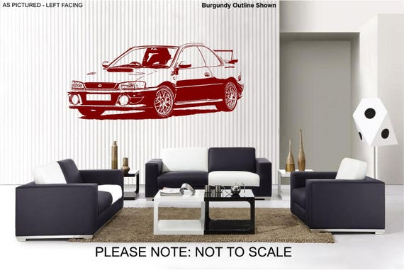 & Subaru Impreza wrx Car Wall Art Sticker 2 sizes