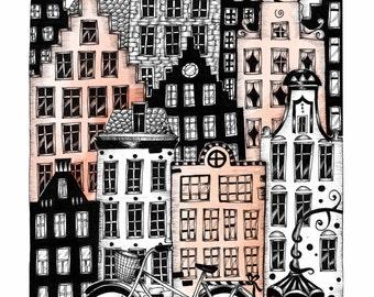 "Art print ""Midnight in Amsterdam"""