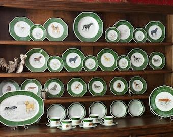 Hermes Chasse Hunter Green Dinnerware