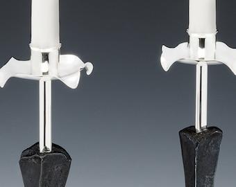 Tall Petal Candlesticks