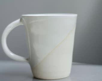 White Mug, Handmade Mug, Pottery Mug, Mothers Day Gift, Easter Gift, Ceramic Mug, Coffee Gift, Minimalist Mug, Handmade Ceramic Mug