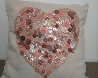Heart pillow and buttons