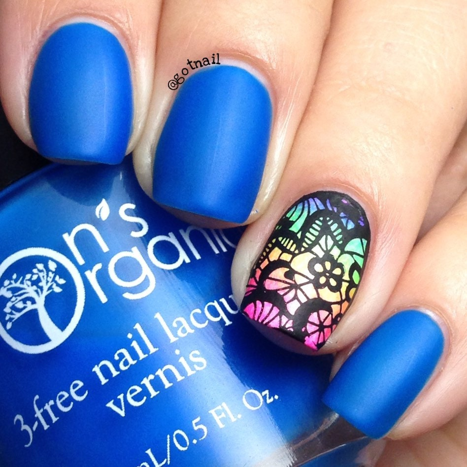 Enchanting - 5 Free MATTE Neon Dark Blue Nail Polish - Glow in the ...