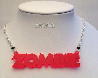 ONE OFF- Gothic 'Zombie' Necklace