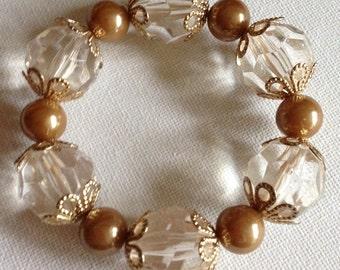 Bracelet - pretty plastic beads bracelet