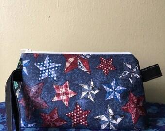 Medium Wedge Project Bag- Patriotic Stars