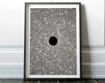 Black Hole print. Space Poster. Space art poster. Outer space decor. Universe wall decor. Nasa poster. Astronomy art. GİCLEE Print