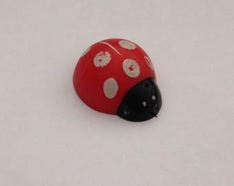 Vintage  Red Ladybug Pencil Top Eraser 1980s 80s