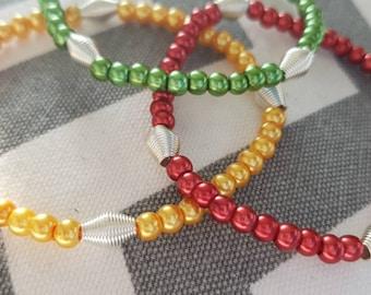 Grenada Flag Inspired Stretchy Bracelets