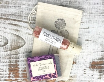 Gift Set, Mini Soap, Mini Bath Salt, Bridesmaid Gift, Birthday Gift, Stocking Stuffer, Gift Under 10