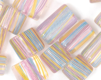 May Day Blooms David Christensen Furnace Glass Beads (243)