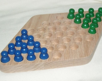 Chinese Checkers For Two Wooden Board Game