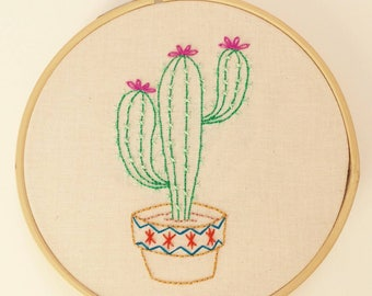 Cactus Embroidery PDF Pattern #1