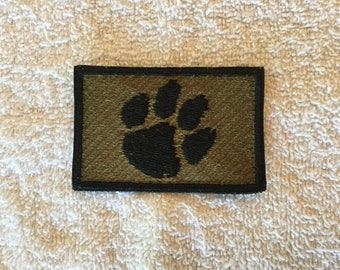 Clemson Tactical Morale Patch with hook and loop backing