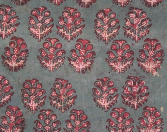 Gul boota Early Block Print Yardage,Natural Dyes on cotton