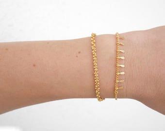 Minimalist chain cluster or spike chain bracelet