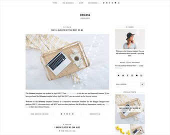 Orianna | Responsive Blogger Template + Free Installation