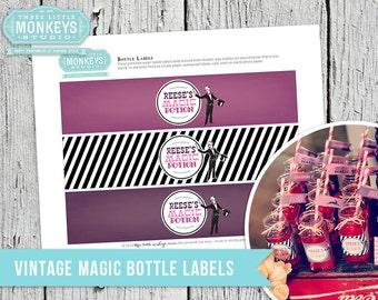 Vintage Magic Bottle Labels