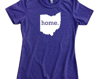 Homeland Tees Ohio Home State Women's T-Shirt