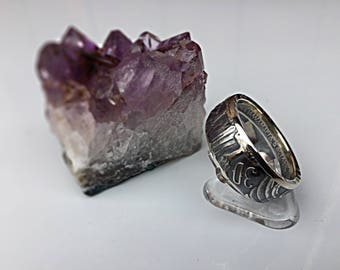 Ring coin 30 drachmas of Greece in Silver (coin ring)