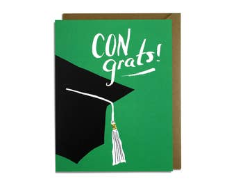 Graduation Card - Congrats, Congratulations, College, High School, Grad