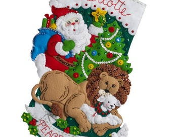 Pre-order 2018 Finished Bucilla Peace on Earth Christmas stocking