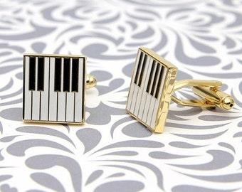 ON SALE Music Keyboard Piano Cufflinks