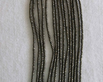 Pyrite, Pyrite Bead, 3 mm, Faceted Bead, Natural Stone, Semi Precious Bead, Pyrite Faceted Bead, Full Strand, AdrianasBeads