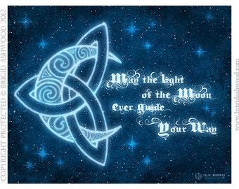 Celtic MoonWay -  Pagan Wiccan Print - Brigid Ashwood