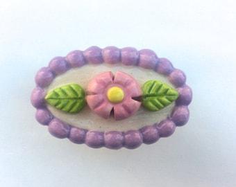 Lavender Pink Knob, Pink Flower Knob, Lavender Knob, Flower Drawer Pull, Nursery Knob, Desk Furniture Knob,Dresser Drawer Knob, Cabinet Pull