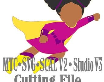 SVG Cut File Super Hero 03 Cut Files MTC SCAL v2 Silhouette Cricut Cutting File