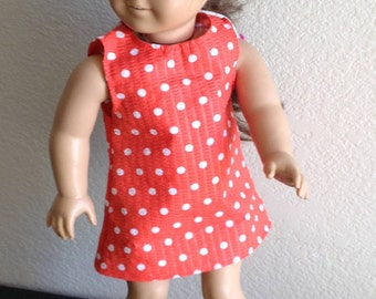 """Dress Made to fit 18"""" Dolls Such as American Girl"""