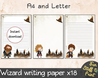 18 wizard writing paper for wizards, witches and Harry Potter fans