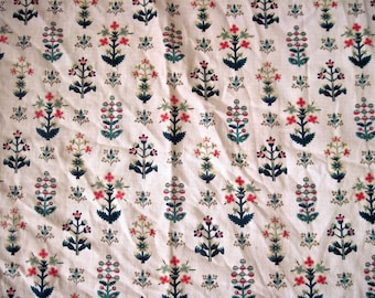 Vintage 1930s barkcloth like Fabric pieces