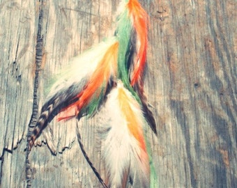 Mystic Long Feather Extension Clip/earring