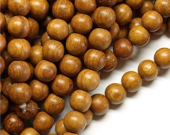 Wood Bead, Round 10mm, Bayong - Ten 16 Inch Strands (WDRD-10BY)