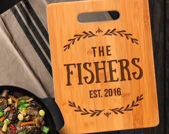Personalized Wedding Gift Cutting Board - Custom Cutting Board for Bride & Groom