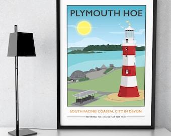 Plymouth Hoe, Devon print