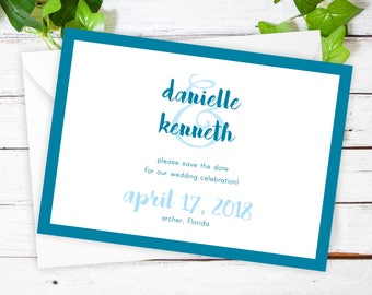 """Sweet Script - Save The Date Cards - 5"""" x 7"""" Wedding Announcement Cards - Save The Dates - Personalized Save the Dates - Photo Cards"""
