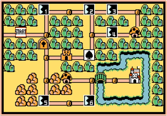 Super mario bros 3 world 1 map cross stitch pattern gumiabroncs Image collections