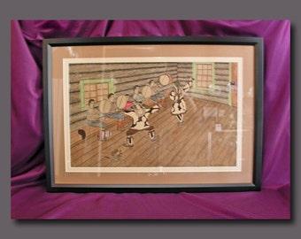 Old Eskimo Original Folk Art Painting - J.O. Tobuk